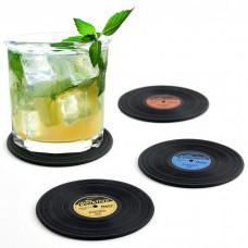 מארז רביעיית תחתיות כוסות תקליטים