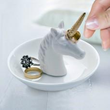 חד קרן פורצלן לטבעות ותכשיטים