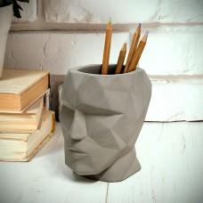כוס עטים יציקת בטון The Head