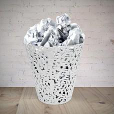 סל ניירות אותיות ABC לבן