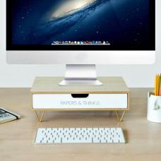 מעמד למסך מחשב עם מגירה  Papers & Things