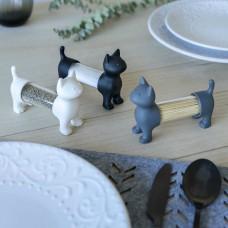 חתול לקיסמים, מלח, פלפל או תבלינים - לבן / אפור / שחור