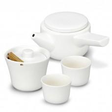 סט תה יפני בתוספת כד חליטה Evo-Song  לבן